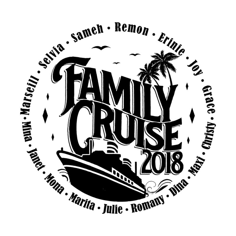 Family Cruise 2018 - Black Print Kids Baby Zip-Up Hoody by TDUB951