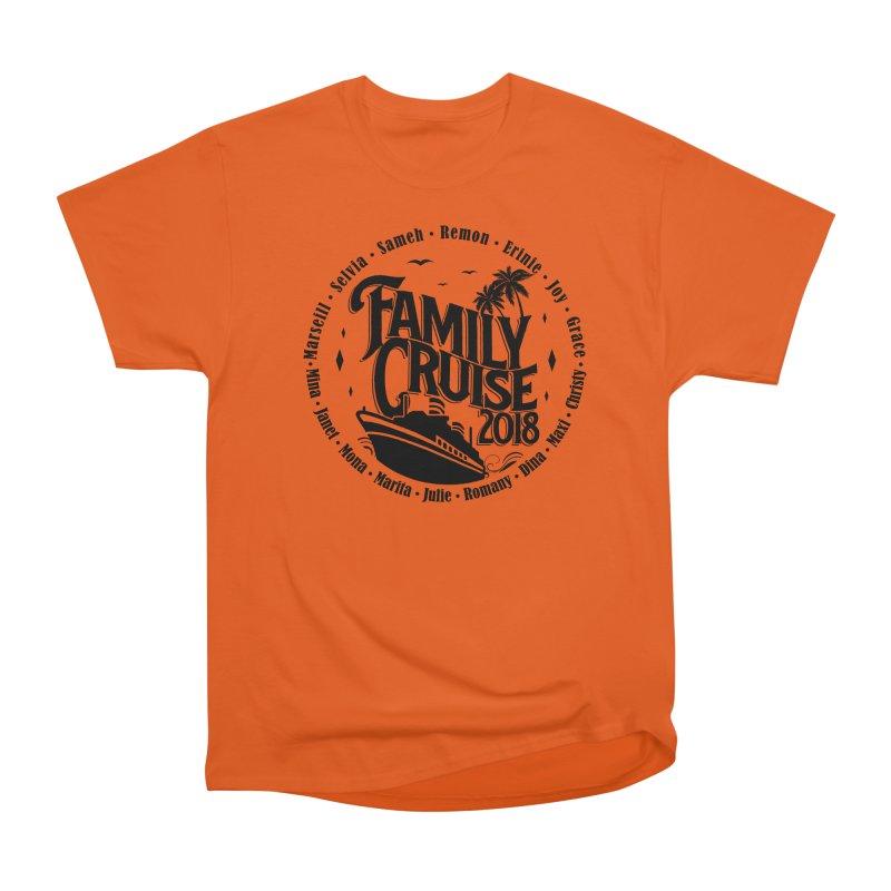 Family Cruise 2018 - Black Print Women's Heavyweight Unisex T-Shirt by TDUB951