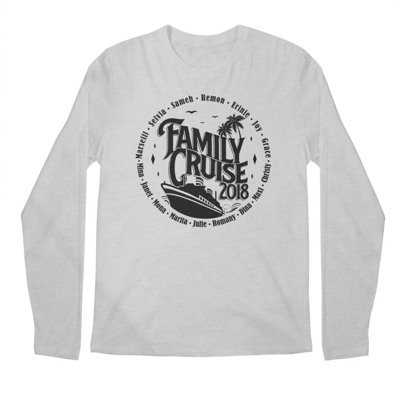 Family Cruise 2018 - Black Print Men's Regular Longsleeve T-Shirt by TDUB951