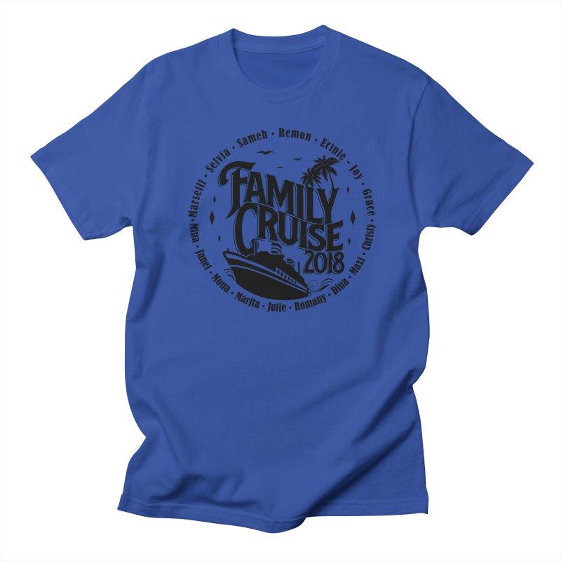 Family Cruise 2018 - Black Print Men's Regular T-Shirt by TDUB951