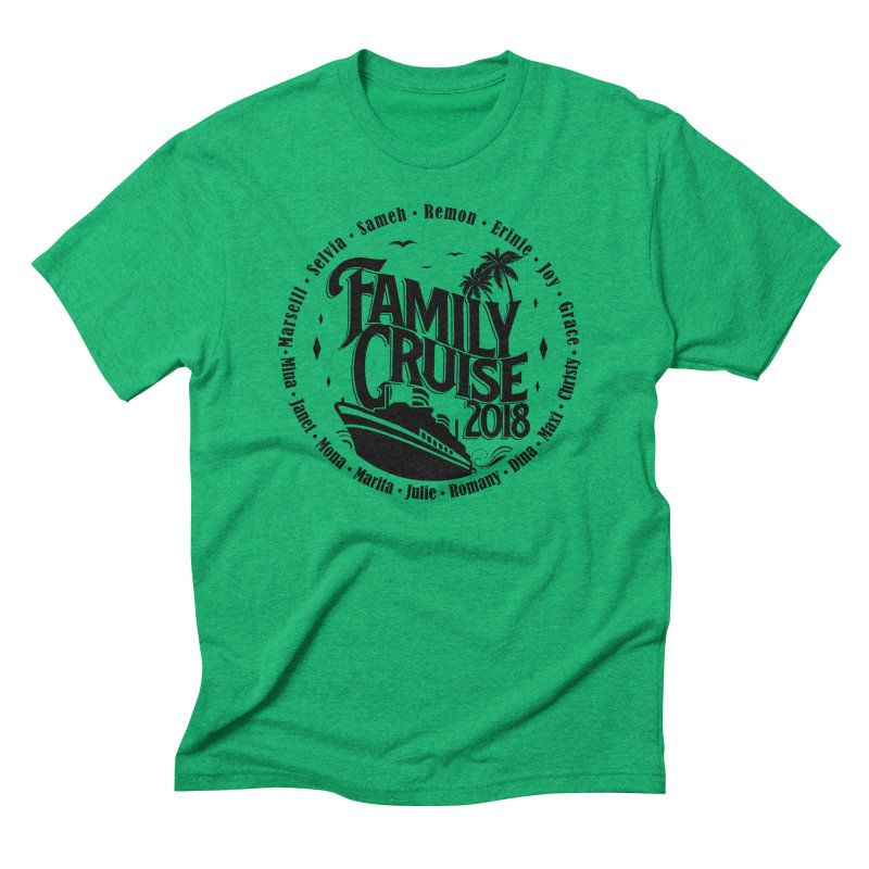 Family Cruise 2018 - Black Print Men's Triblend T-Shirt by TDUB951