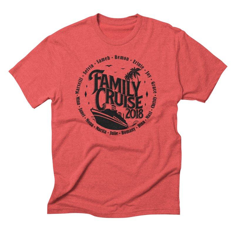 Family Cruise 2018 - Black Print Men's Triblend T-Shirt by TDUB951