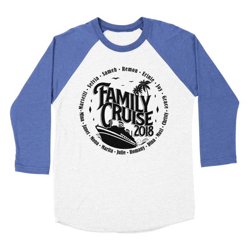 Family Cruise 2018 - Black Print Men's Baseball Triblend Longsleeve T-Shirt by TDUB951
