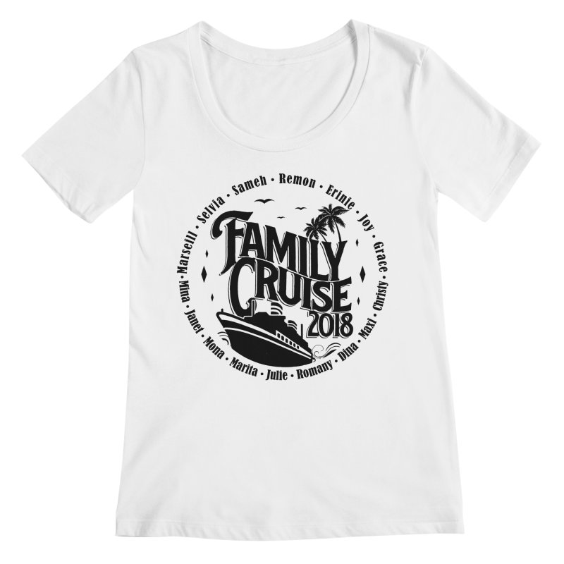 Family Cruise 2018 - Black Print Women's Regular Scoop Neck by TDUB951