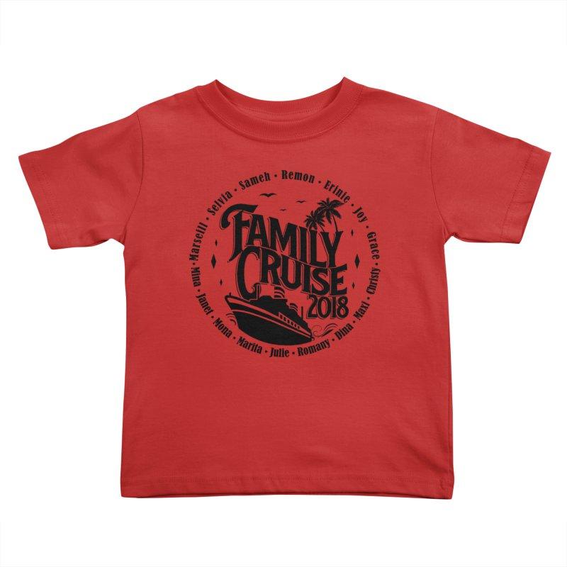 Family Cruise 2018 - Black Print Kids Toddler T-Shirt by TDUB951