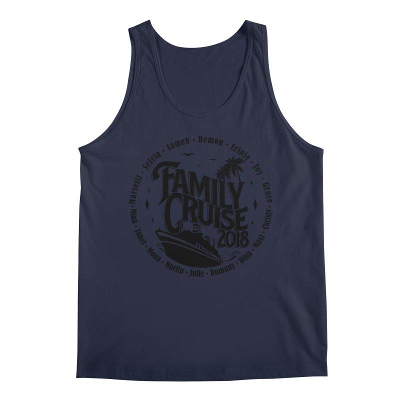 Family Cruise 2018 - Black Print Men's Regular Tank by TDUB951