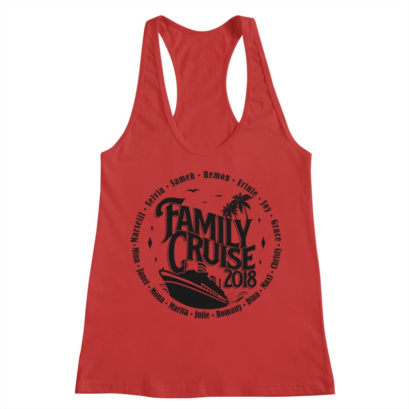 Family Cruise 2018 - Black Print Women's Racerback Tank by TDUB951