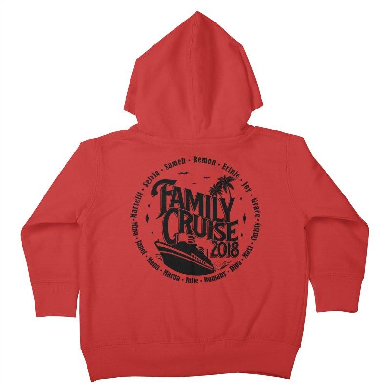 Family Cruise 2018 - Black Print Kids Toddler Zip-Up Hoody by TDUB951