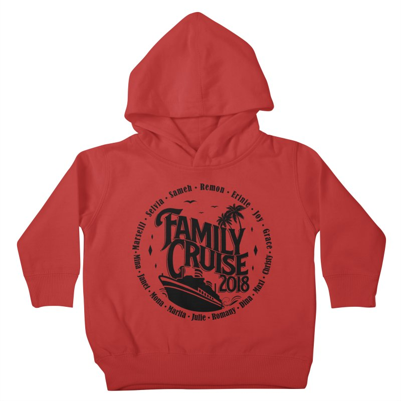 Family Cruise 2018 - Black Print Kids Toddler Pullover Hoody by TDUB951