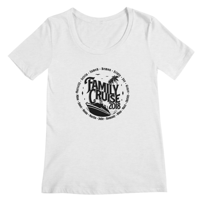 Family Cruise 2018 - Black Print Women's Regular Scoop Neck by TDUB951