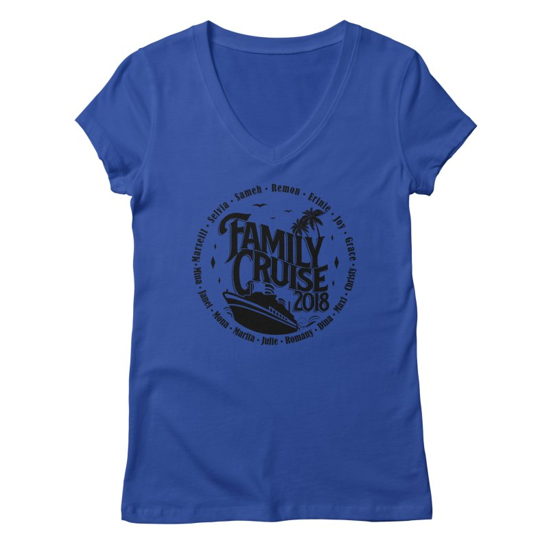 Family Cruise 2018 - Black Print Women's Regular V-Neck by TDUB951