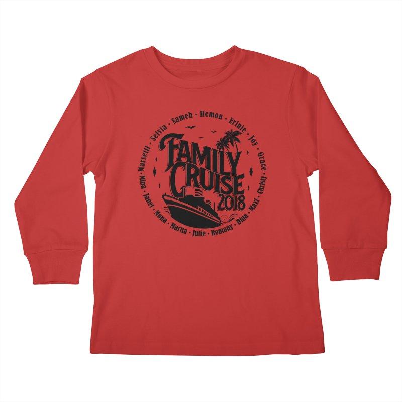 Family Cruise 2018 - Black Print Kids Longsleeve T-Shirt by TDUB951