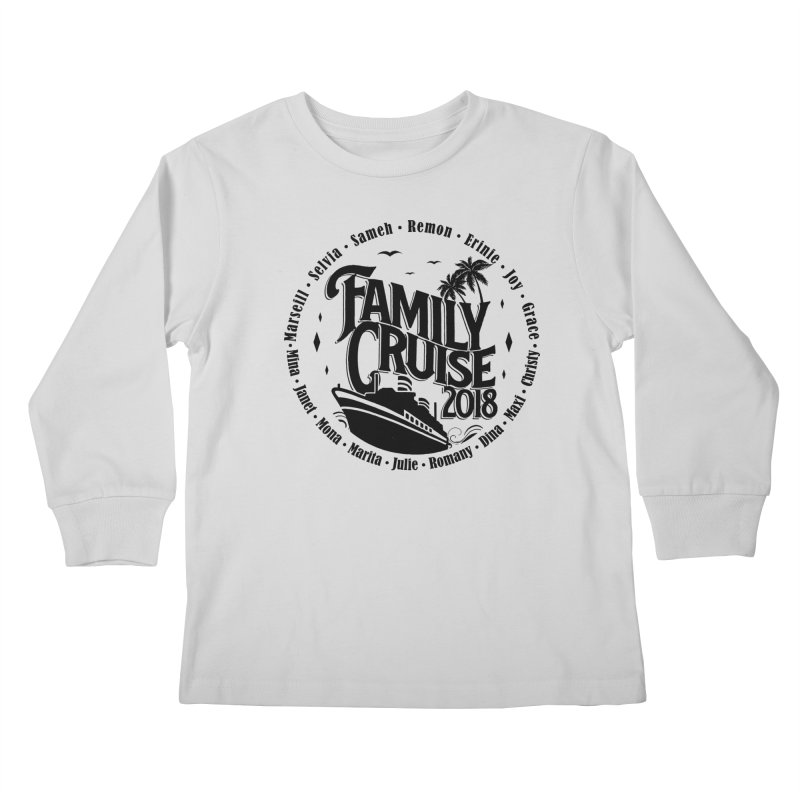 Family Cruise 2018 - Black Print Kids Longsleeve T-Shirt by TDUB951