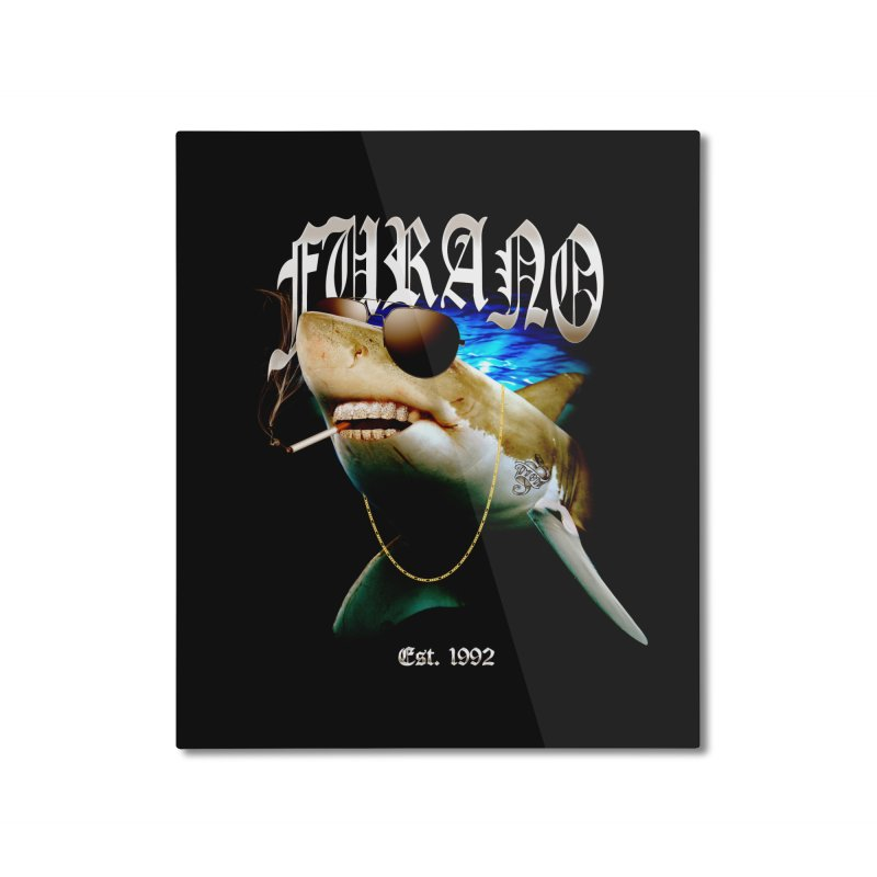 Haley Shark Home Mounted Aluminum Print by TDUB951