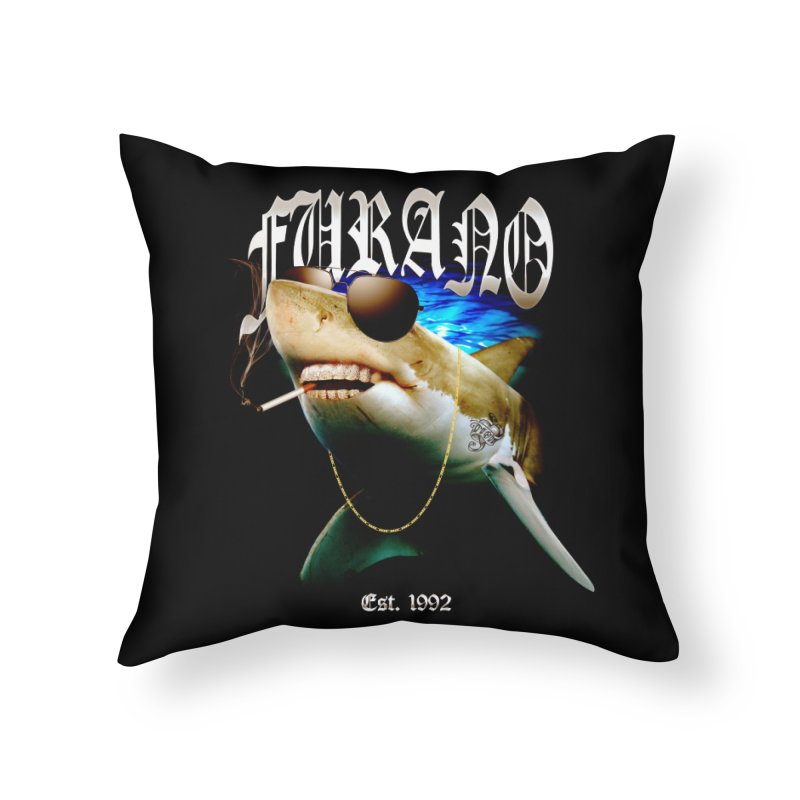 Haley Shark Home Throw Pillow by TDUB951