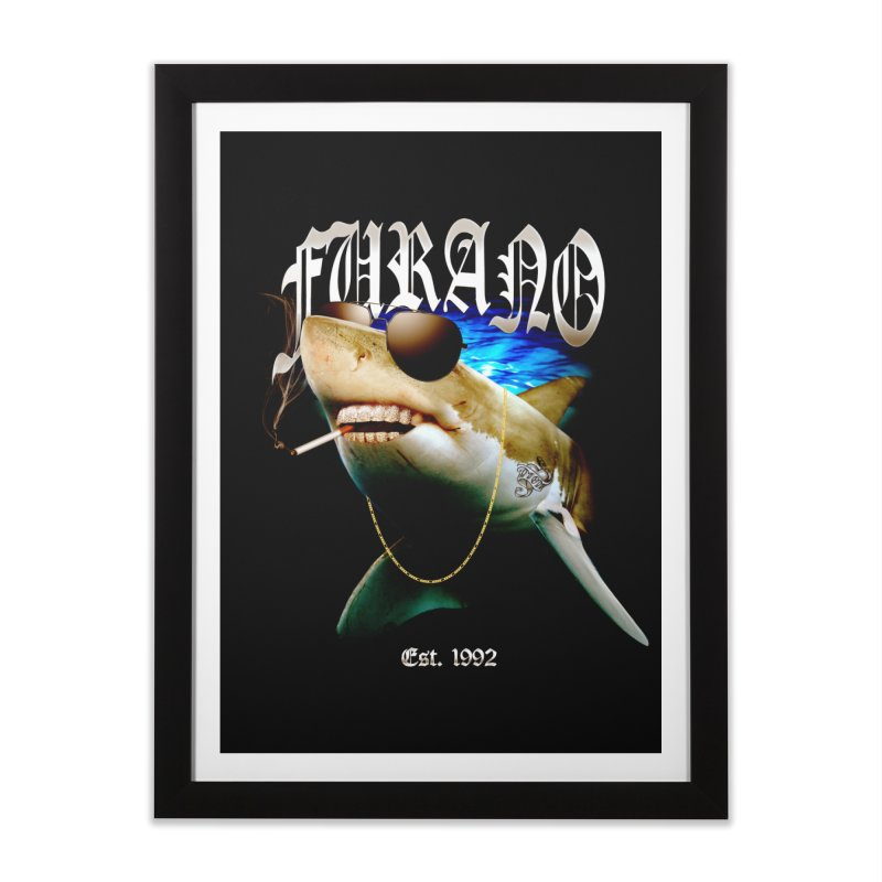 Haley Shark Home Framed Fine Art Print by TDUB951