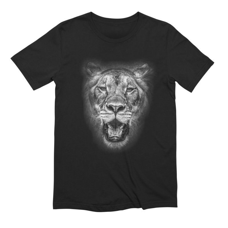 Lioness - @victorfernandesphotography in Men's Extra Soft T-Shirt Black by TDUB951