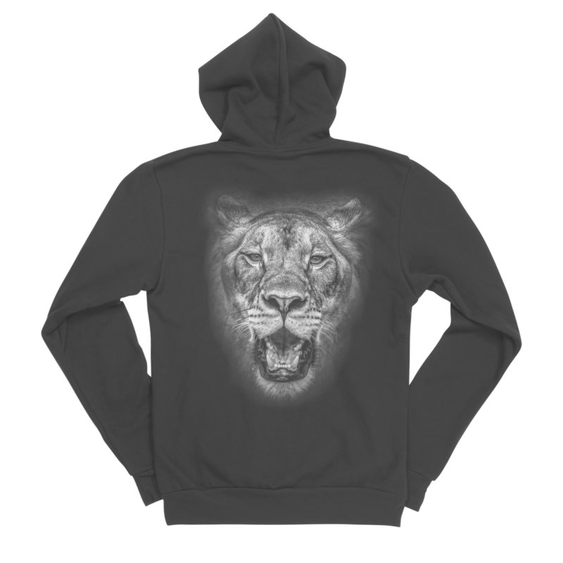 Lioness - @victorfernandesphotography Women's Sponge Fleece Zip-Up Hoody by TDUB951