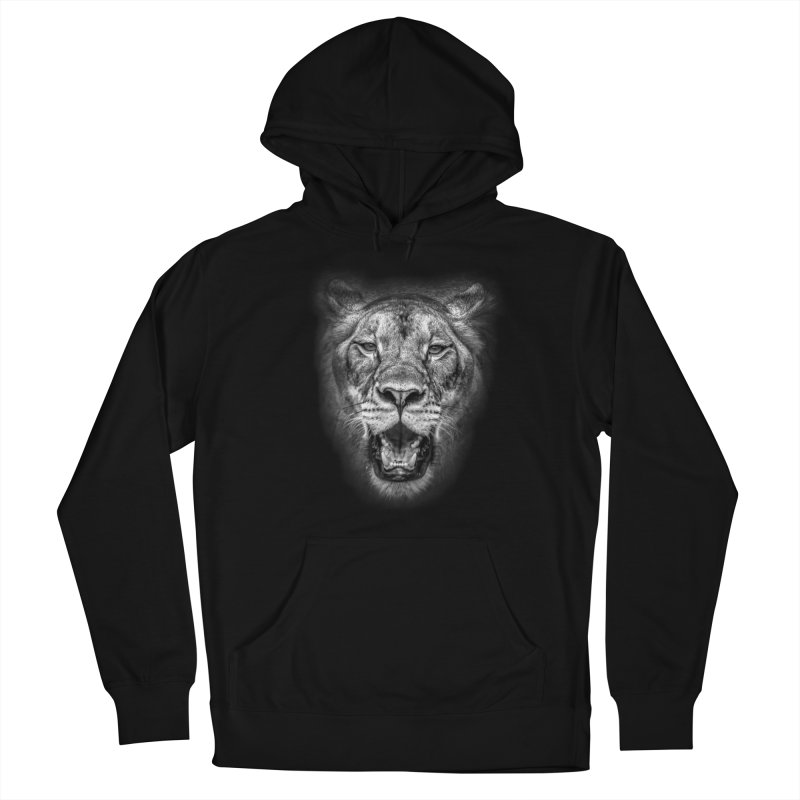 Lioness - @victorfernandesphotography in Men's French Terry Pullover Hoody Black by TDUB951