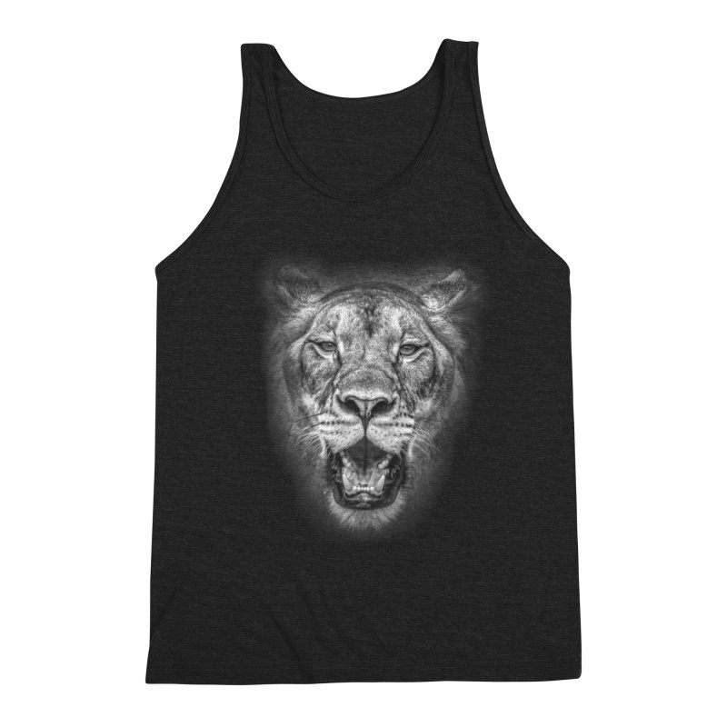 Lioness - @victorfernandesphotography Men's Triblend Tank by TDUB951