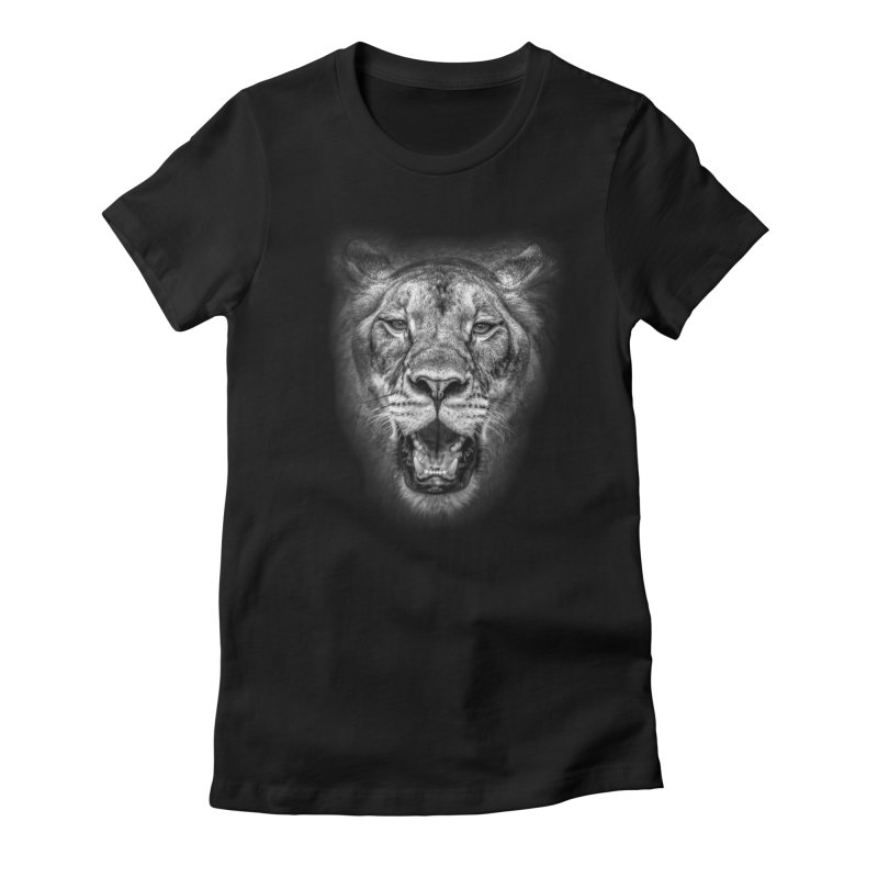 Lioness - @victorfernandesphotography Women's Fitted T-Shirt by TDUB951