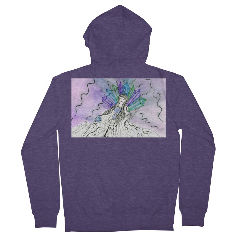 Exhausted Queen of Crystal Men's Zip-Up Hoody by THGStarDragon's Artist Shop