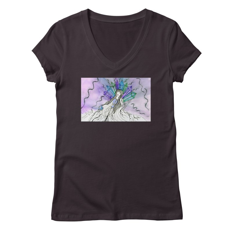 Exhausted Queen of Crystal Women's V-Neck by THGStarDragon's Artist Shop