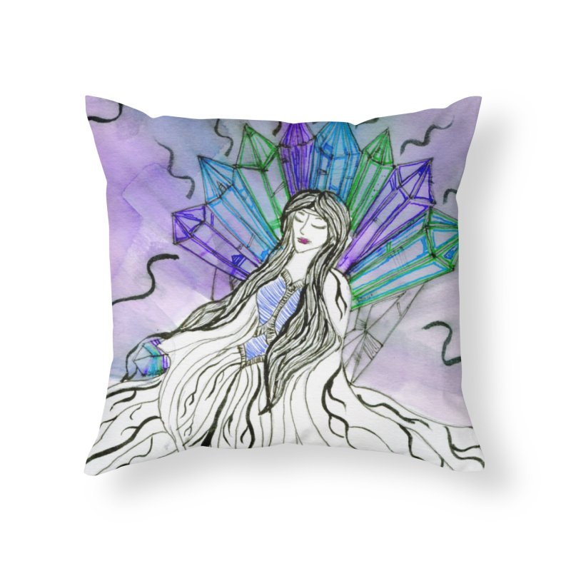 Exhausted Queen of Crystal Home Throw Pillow by THGStarDragon's Artist Shop