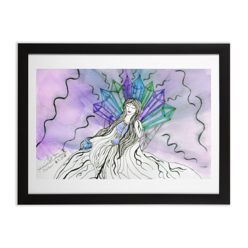 Exhausted Queen of Crystal Home Framed Fine Art Print by THGStarDragon's Artist Shop