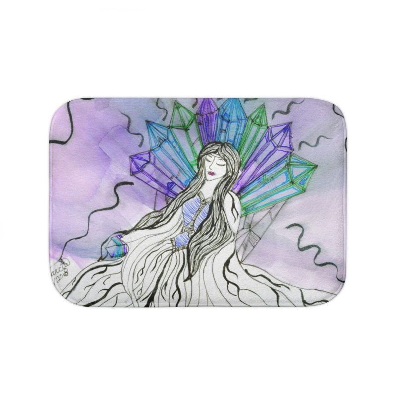 Exhausted Queen of Crystal Home Bath Mat by THGStarDragon's Artist Shop
