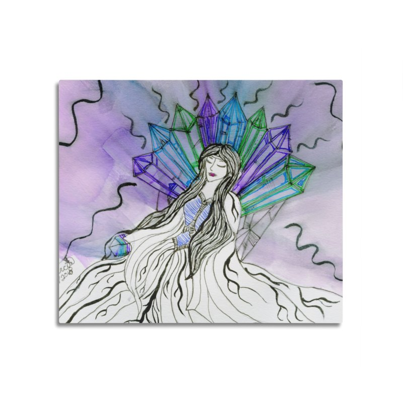 Exhausted Queen of Crystal Home Mounted Aluminum Print by THGStarDragon's Artist Shop