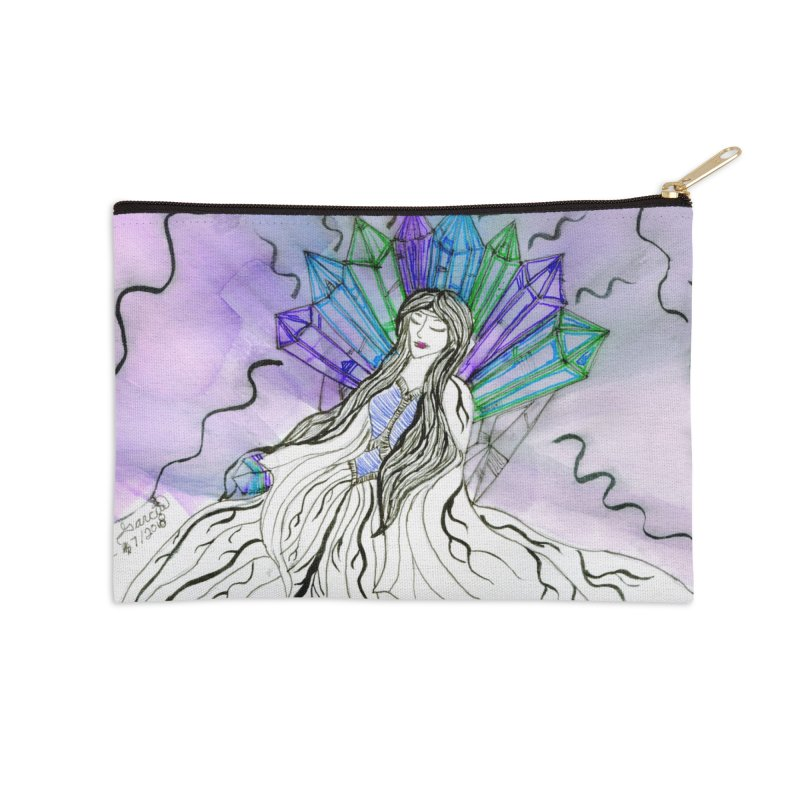 Exhausted Queen of Crystal Accessories Zip Pouch by THGStarDragon's Artist Shop