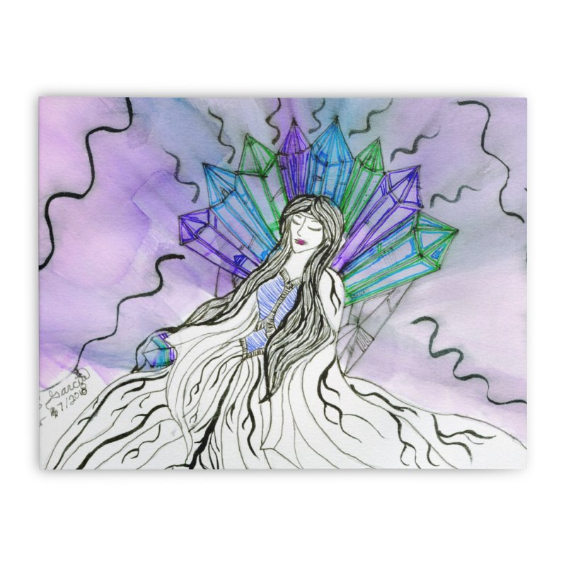 Exhausted Queen of Crystal Home Stretched Canvas by THGStarDragon's Artist Shop