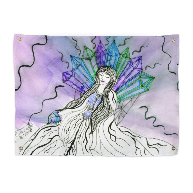 Exhausted Queen of Crystal Home Tapestry by THGStarDragon's Artist Shop
