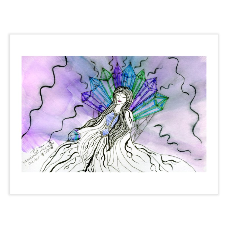 Exhausted Queen of Crystal Home Fine Art Print by THGStarDragon's Artist Shop