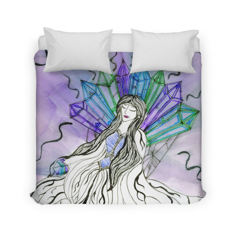 Exhausted Queen of Crystal Home Duvet by THGStarDragon's Artist Shop