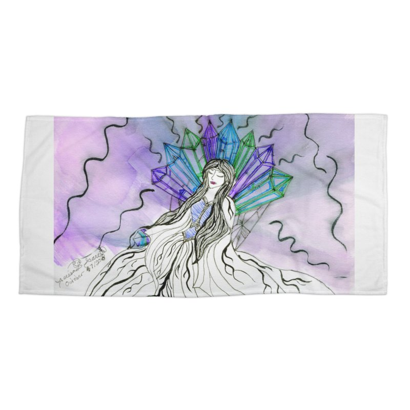 Exhausted Queen of Crystal Accessories Beach Towel by THGStarDragon's Artist Shop