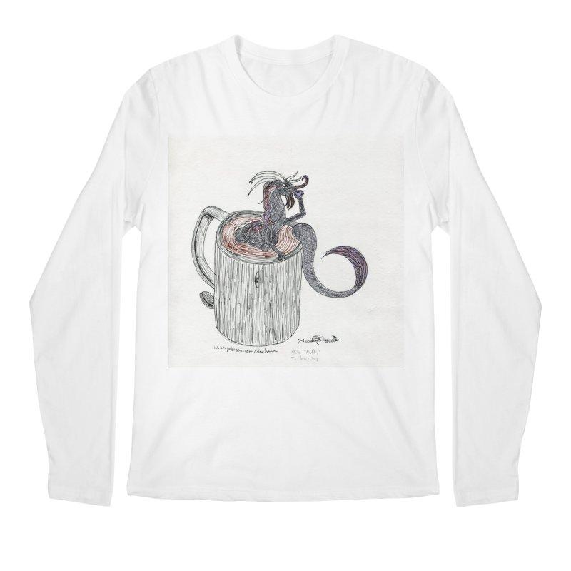 Coffee Dragon Hatchwork Men's Longsleeve T-Shirt by THGStarDragon's Artist Shop