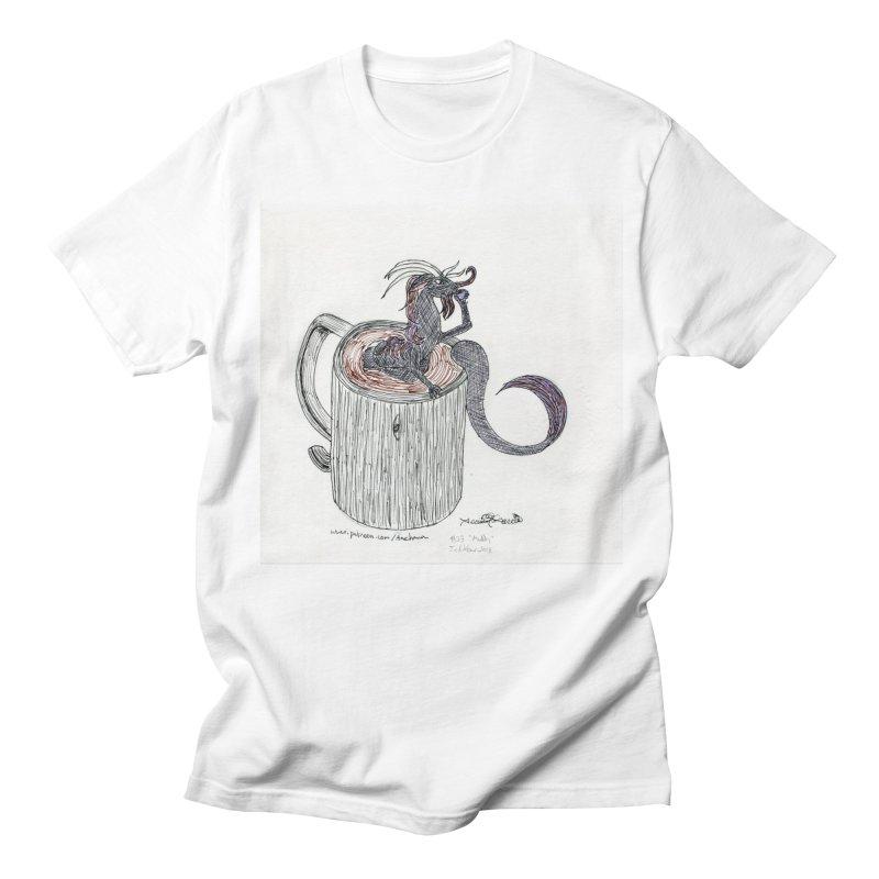 Coffee Dragon Hatchwork Men's T-Shirt by THGStarDragon's Artist Shop