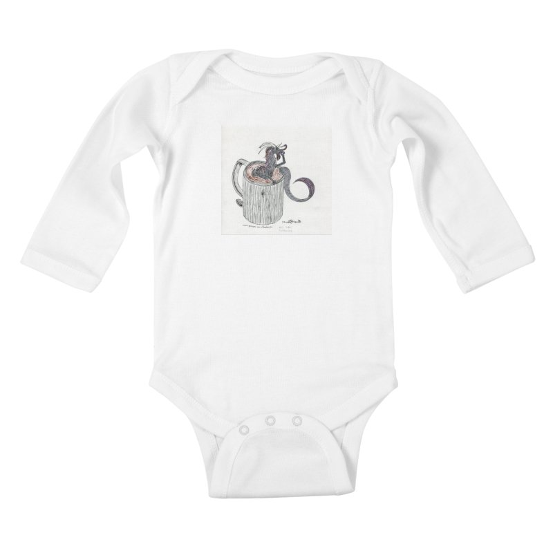 Coffee Dragon Hatchwork Kids Baby Longsleeve Bodysuit by THGStarDragon's Artist Shop