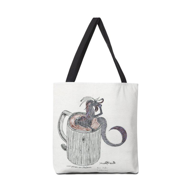 Coffee Dragon Hatchwork Accessories Bag by THGStarDragon's Artist Shop