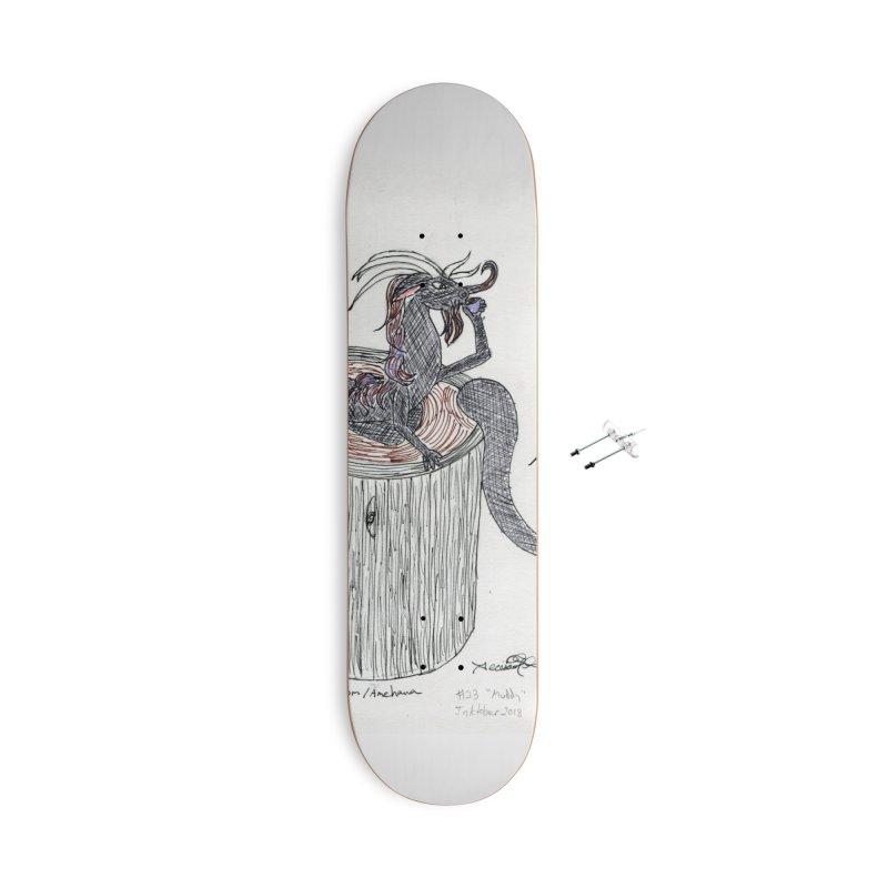 Coffee Dragon Hatchwork Accessories Skateboard by THGStarDragon's Artist Shop