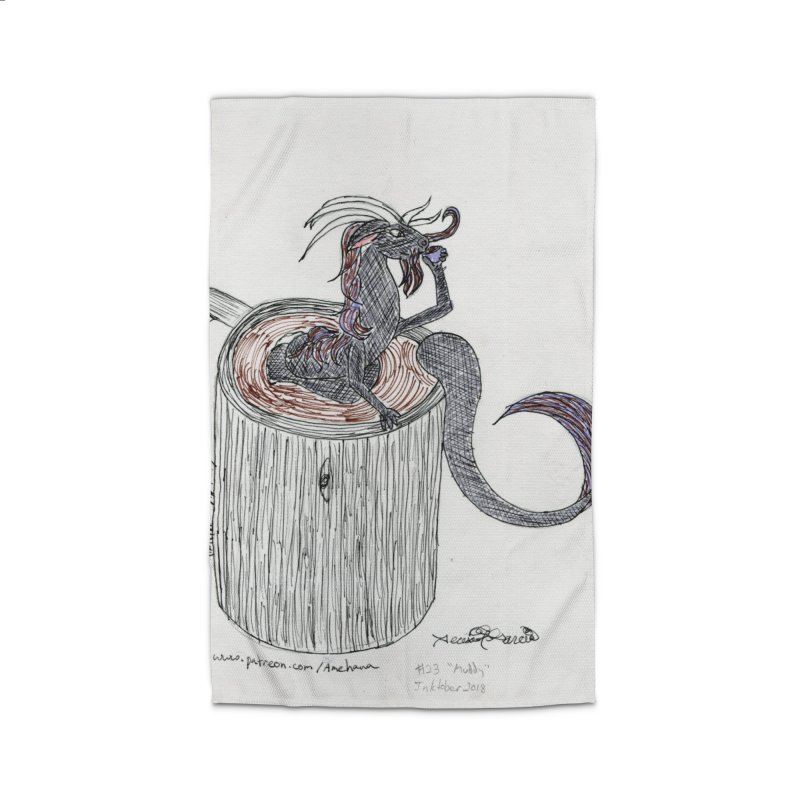 Coffee Dragon Hatchwork Home Rug by THGStarDragon's Artist Shop