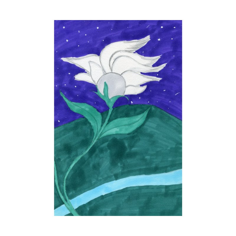 Enchanted Moon Flower Accessories Sticker by THGStarDragon's Artist Shop