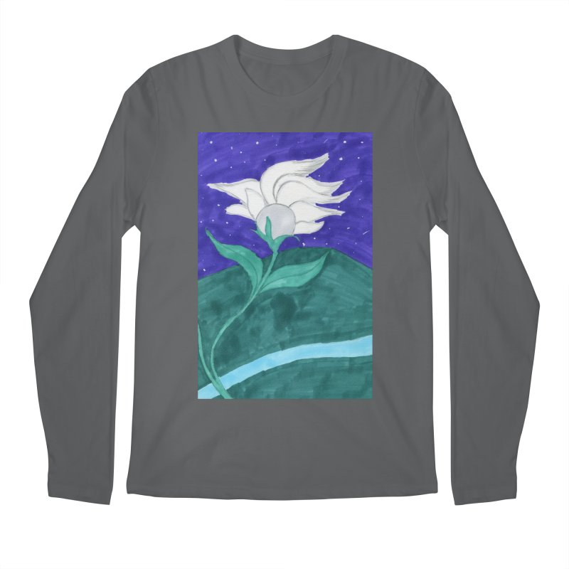 Enchanted Moon Flower Men's Longsleeve T-Shirt by THGStarDragon's Artist Shop