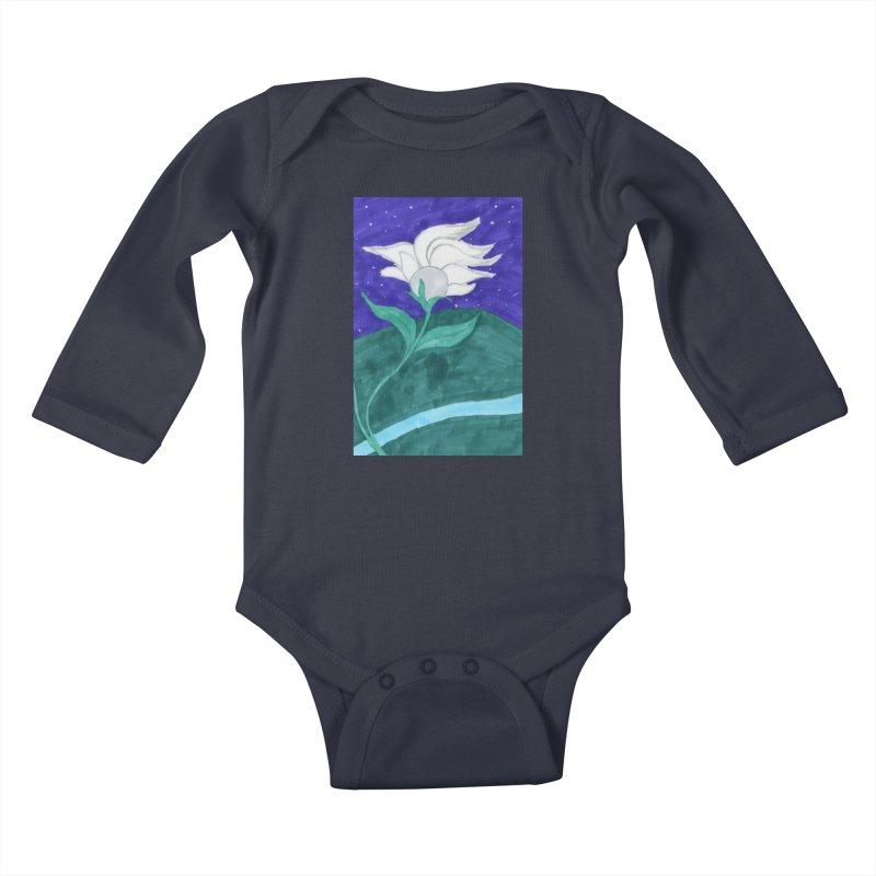 Enchanted Moon Flower Kids Baby Longsleeve Bodysuit by THGStarDragon's Artist Shop