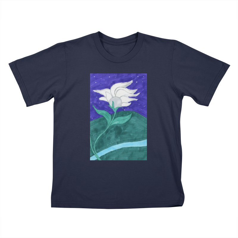 Enchanted Moon Flower Kids T-Shirt by THGStarDragon's Artist Shop