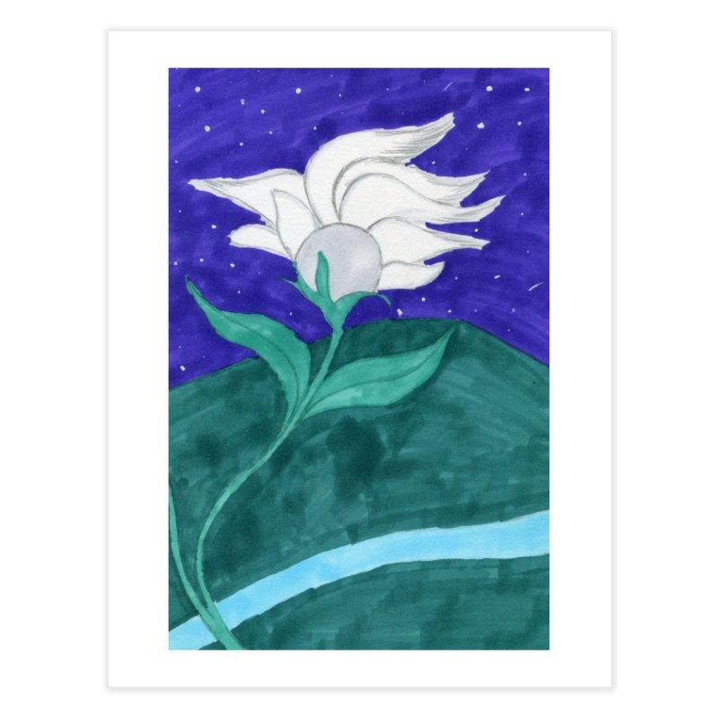 Enchanted Moon Flower Home Fine Art Print by THGStarDragon's Artist Shop