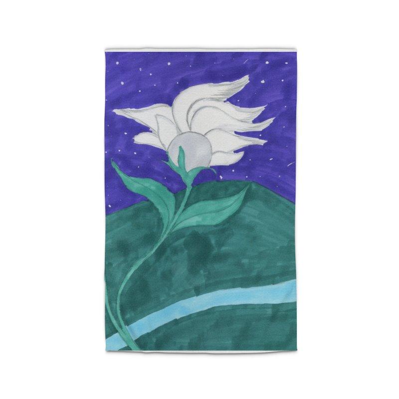 Enchanted Moon Flower Home Rug by THGStarDragon's Artist Shop