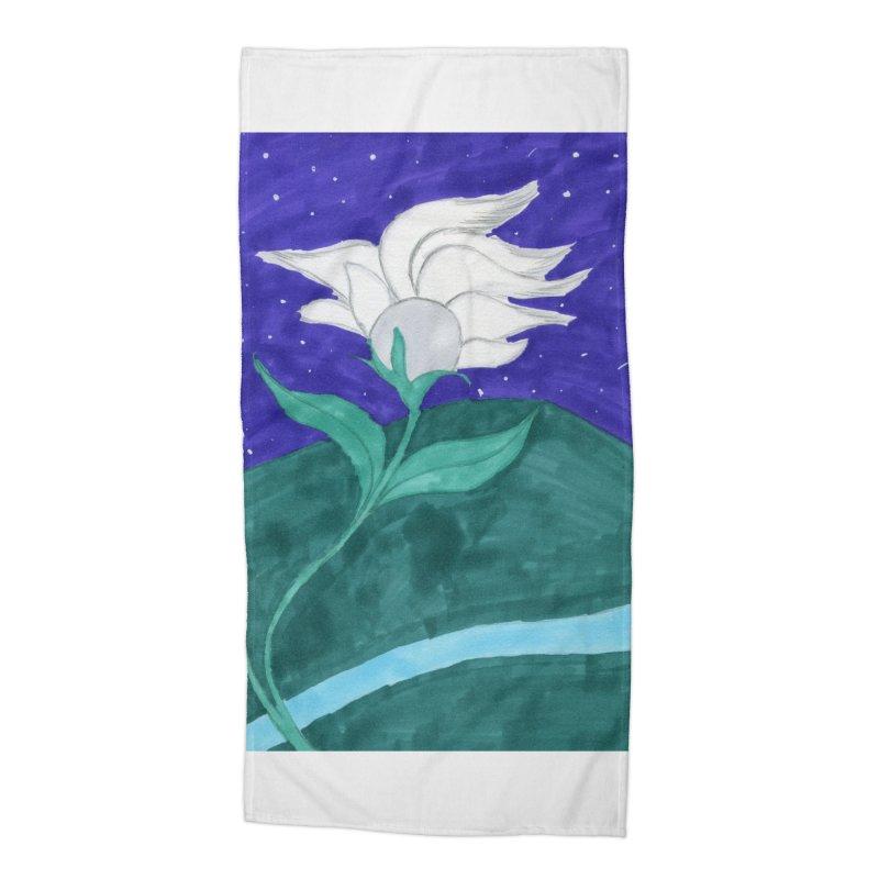 Enchanted Moon Flower Accessories Beach Towel by THGStarDragon's Artist Shop